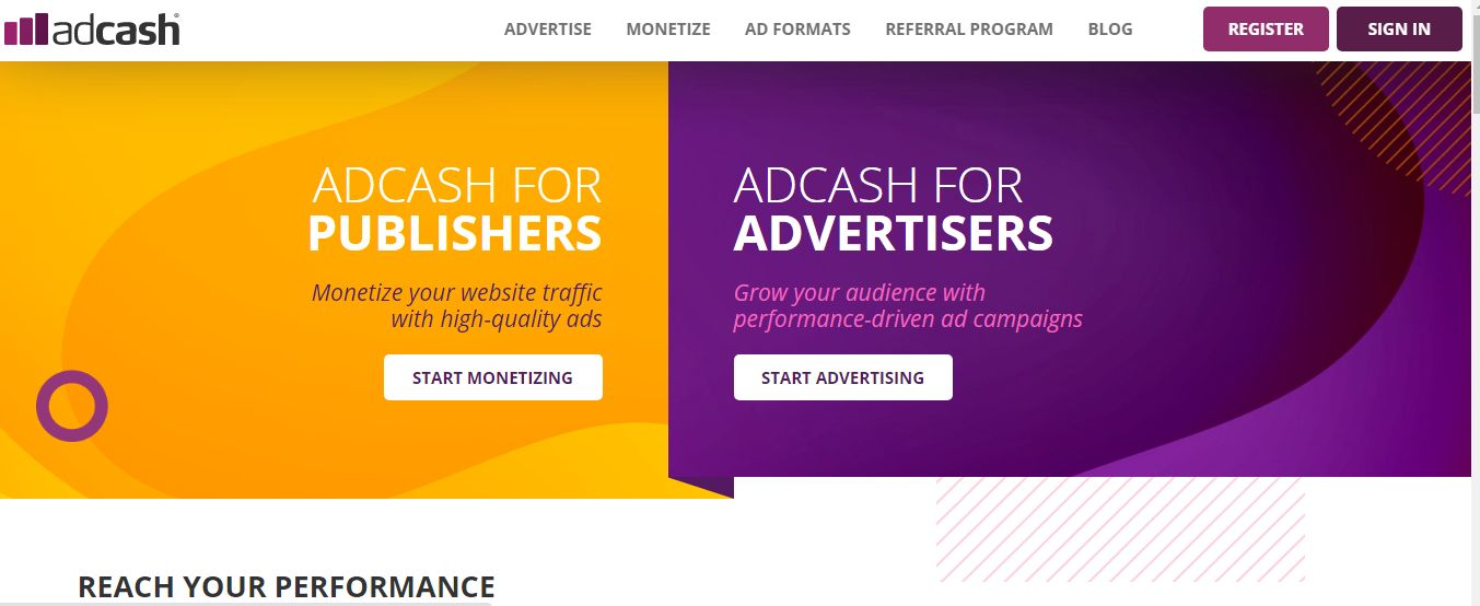 Adcash Pay Per Click Affiliate Programs