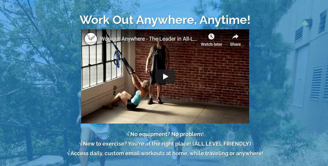 Workout Everywhere Best Fitness Affiliate Program