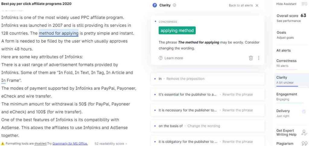 Grammarly Review Clarity